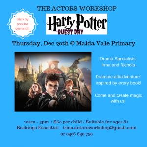 The Actors Workshop Harry Potter Quest Day