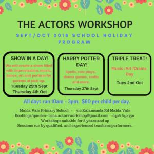 School Holiday Actors Workshop